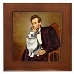 Lincoln's Corgi (Bl.M) Framed Tile