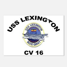 USS Lexington CV 16 Postcards (Package of 8)
