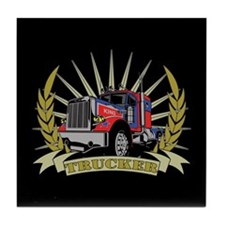 Trucker Gifts Tile Coaster