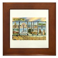 Greetings from Iowa Framed Tile