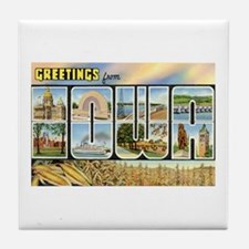 Greetings from Iowa Tile Coaster