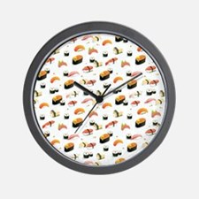 Cute Funny sushi Wall Clock