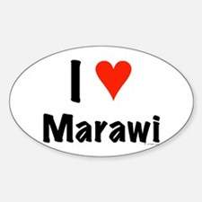 I love Marawi Oval Decal