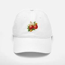 Retro Strawberry Baseball Baseball Cap