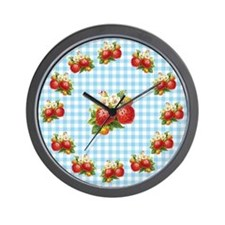 Retro Strawberry Wall Clock
