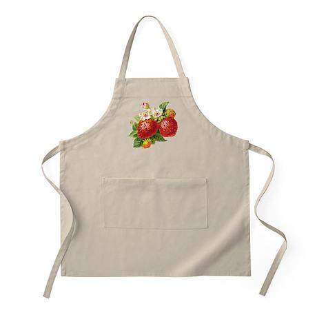 Retro Strawberry BBQ Apron