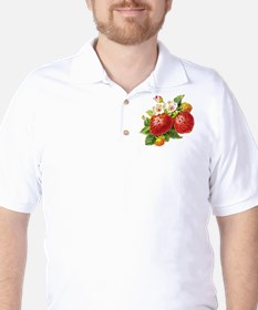 Retro Strawberry Golf Shirt