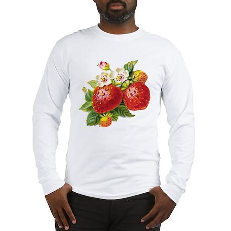 Retro Strawberry Long Sleeve T-Shirt