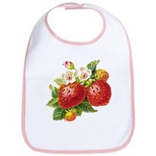 Retro Strawberry Bib