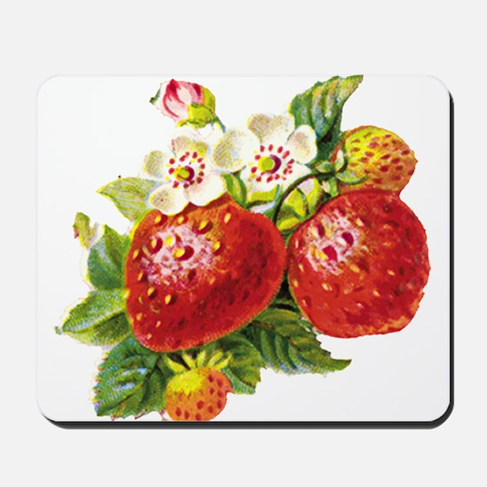Retro Strawberry Mousepad