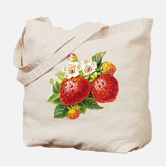 Retro Strawberry Tote Bag