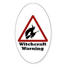 Witchcraft Warning Oval Decal