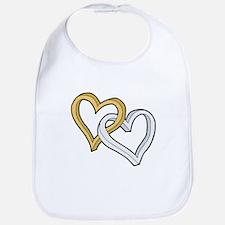 GOLD & SILVER HEARTS Bib