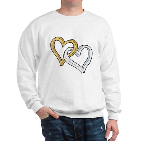 GOLD & SILVER HEARTS Sweatshirt