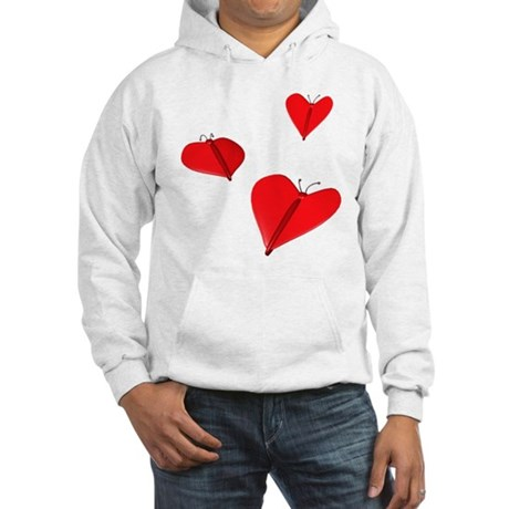 Butterfly Hearts Hooded Sweatshirt