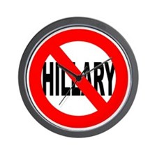 Anti Hillary Clinton Wall Clock