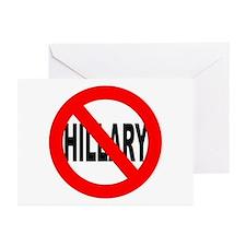 Anti Hillary Clinton Greeting Cards (Pk of 10)