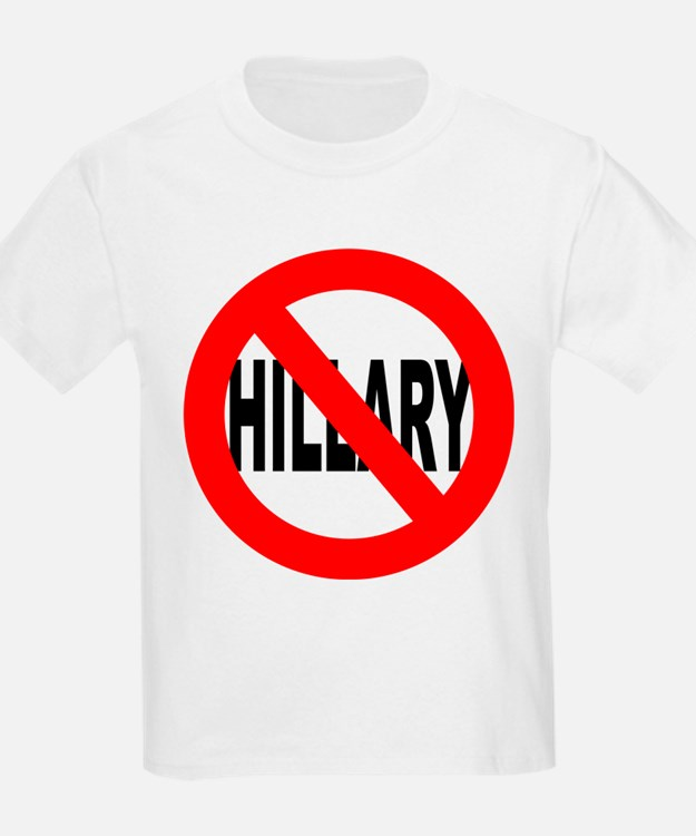 Anti Hillary Clinton (Front) T-Shirt