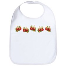 Row of Retro Strawberries Bib