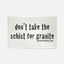 Schist for Granite Rectangle Magnet