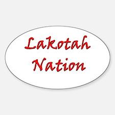 Lakotah Nation Oval Decal