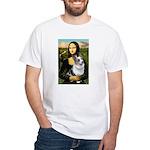 Mona's Corgi (Bl.M) White T-Shirt
