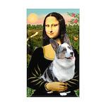 Mona's Corgi (Bl.M) Sticker (Rectangle)