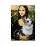 Mona's Corgi (Bl.M) Rectangle Magnet (10 pack)