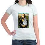 Mona's Corgi (Bl.M) Jr. Ringer T-Shirt