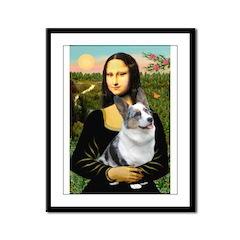 Mona's Corgi (Bl.M) Framed Panel Print