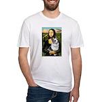 Mona's Corgi (Bl.M) Fitted T-Shirt