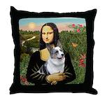 Mona's Corgi (Bl.M) Throw Pillow