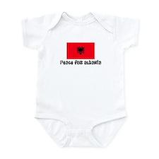 Peace for Albania Infant Bodysuit