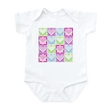 SIXTEEN COLORFUL HEARTS Infant Bodysuit