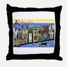 Greetings from Kentucky Throw Pillow