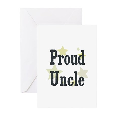 Proud Uncle Greeting Cards (Pk of 10)