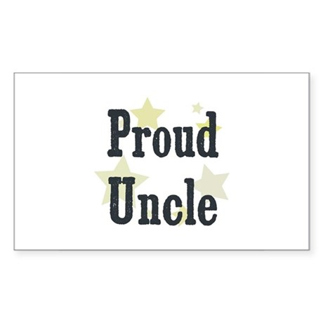 Proud Uncle Rectangle Sticker