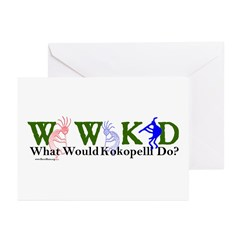 What Would Kokopelli Do? d30 Greeting Cards (Packa