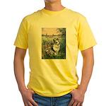 The Seine - Corgi (Bl.M) Yellow T-Shirt