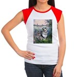 The Seine - Corgi (Bl.M) Women's Cap Sleeve T-Shir