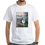 The Seine - Corgi (Bl.M) White T-Shirt