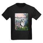 The Seine - Corgi (Bl.M) Kids Dark T-Shirt