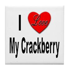 I Love My Crackberry Tile Coaster