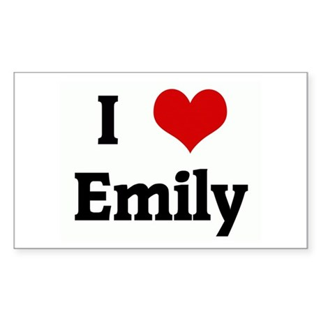 I Love Emily Rectangle Sticker