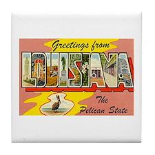 Greetings from Louisiana Tile Coaster
