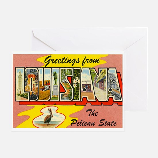 Greetings from Louisiana Greeting Card