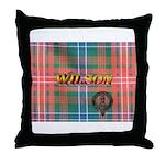 Wilson Tartan & Badge Throw Pillow