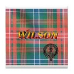Wilson Tartan & Badge Tile Coaster