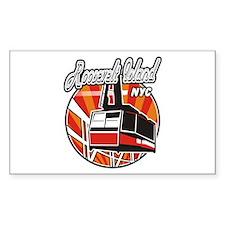 Roosevelt Island Tram Logo Rectangle Decal