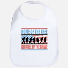 HOME OF THE FREE BECAUSE OF THE BRAVE Bib